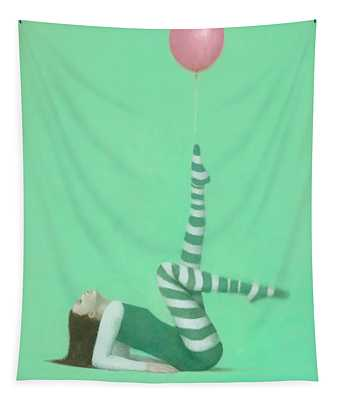 The Pink Balloon I Tapestry
