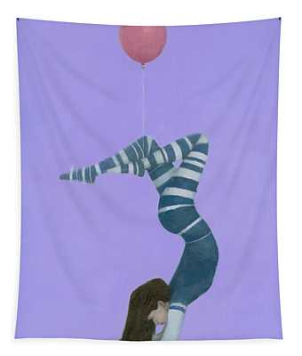 The Pink Balloon II Tapestry