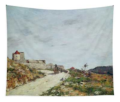The Road To The Citadel At Villefranche Tapestry