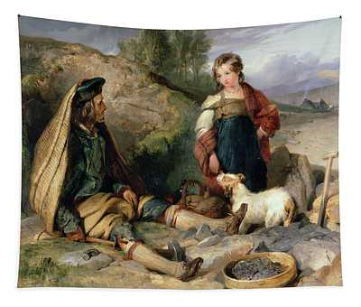 The Stone Breaker And His Daughter Tapestry
