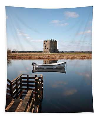 Threave Castle Reflection Tapestry