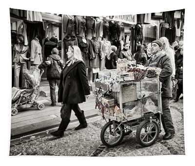 Traveling Vendor Tapestry