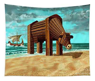Trojan Cow Tapestry