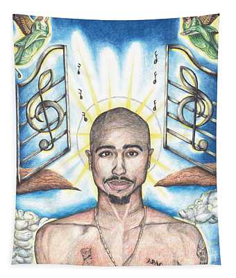 Tupac In Heaven Tapestry