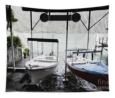 Two Hanging Boats Tapestry