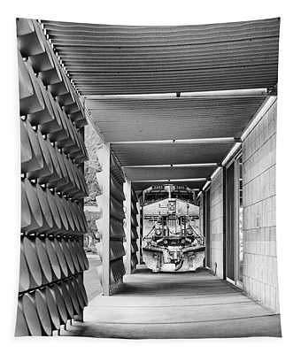 Train Of Events 2 Bw Palm Springs Tapestry