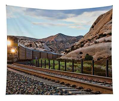 Union Pacific Tracks Tapestry
