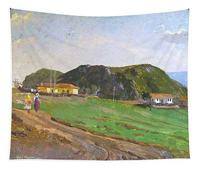 View From Belesh Elbasan Tapestry