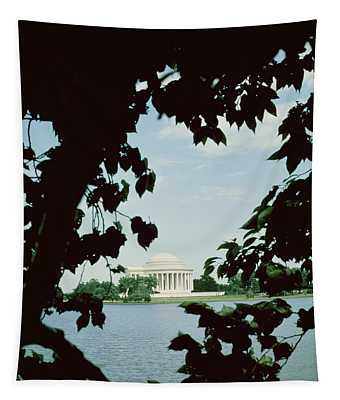 View Of The Jefferson Memorial Tapestry