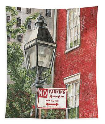 Village Lamplight Tapestry