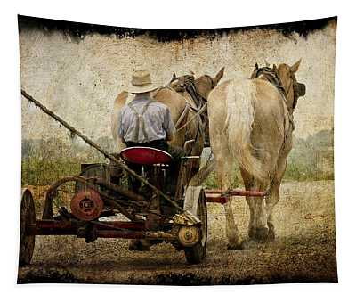 Vintage Amish Life Tapestry