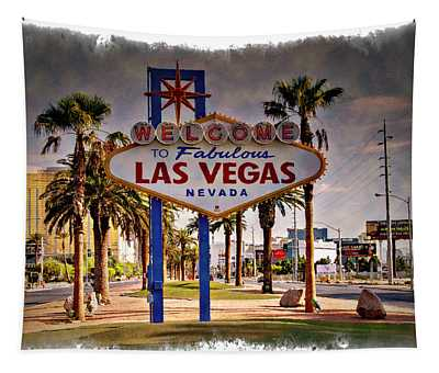 Welcome To Las Vegas Sign Series Impressions Tapestry