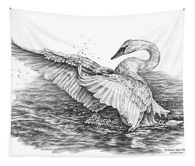 White Swan - Dreams Take Flight Tapestry