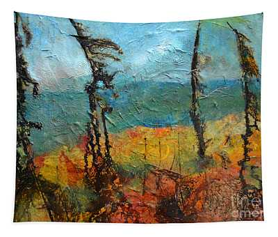 Windswept Pines Tapestry