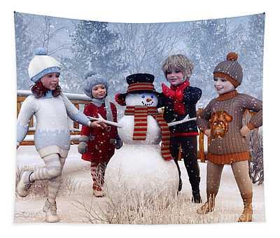 Winter Kids Tapestry