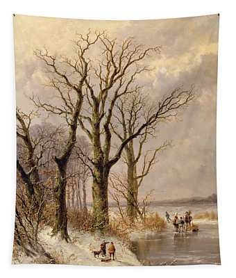 Snow Bank Wall Tapestries