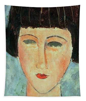 Young Brunette Tapestry