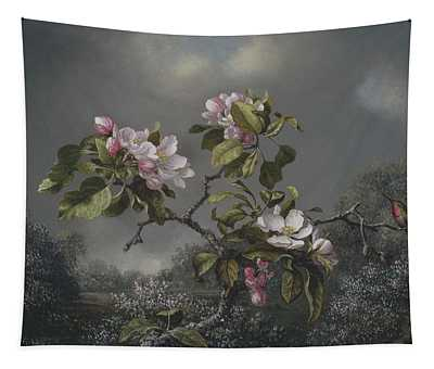 Apple Blossoms And Hummingbird Tapestry