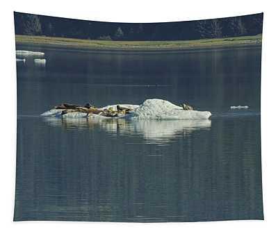 Harbor Seals On Bergy Bit  Tapestry