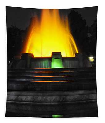 Mulholland Fountain Reflection Tapestry