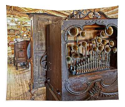 Music Hall - Nevada City Montana Ghost Town Tapestry