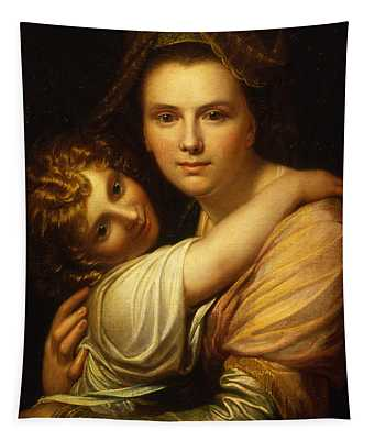 Portrait Of The Artists Wife And Daughter  Tapestry