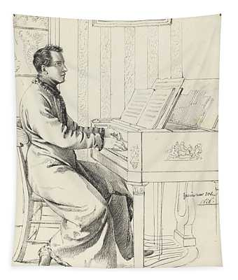 Preparing To Play The Piano Tapestry