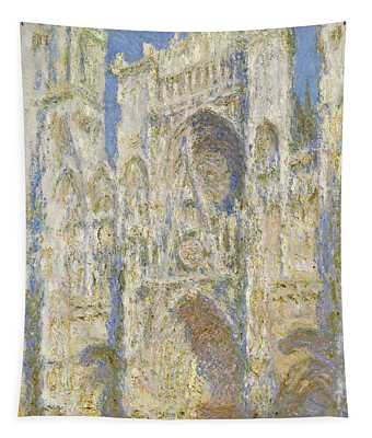 Rouen Cathedral West Facade Sunlight Tapestry