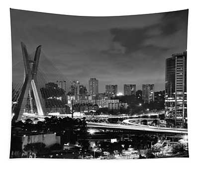 Sao Paulo Iconic Skyline - Cable-stayed Bridge - Ponte Estaiada Tapestry