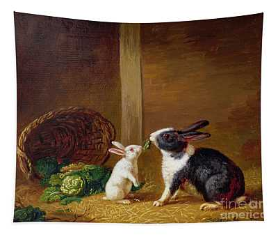 Two Rabbits Tapestry