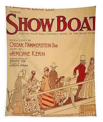 Show Boat Poster, 1927 Tapestry