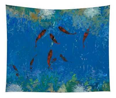 Fish Pond Wall Tapestries