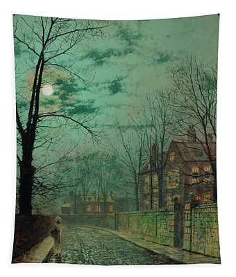 A Moonlit Road Tapestry
