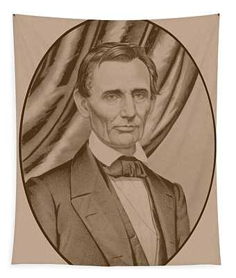 Abraham Lincoln Circa 1860  Tapestry