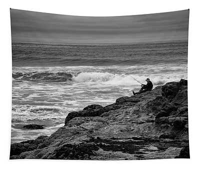 Alone With The Waves Tapestry