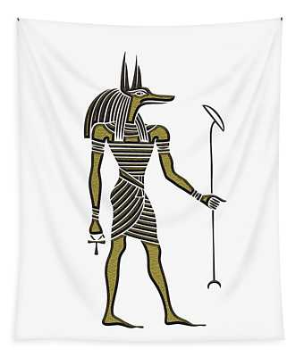 Anubis - God Of Ancient Egypt Tapestry