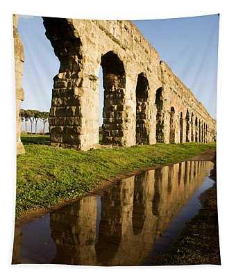 Aqua Claudia Aqueduct Tapestry