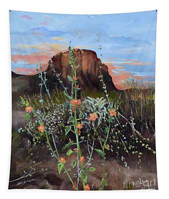 Arizona Desert Flowers-dwarf Indian Mallow Tapestry