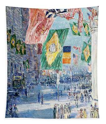 Avenue Of The Allies - Brazil, Belgium Tapestry