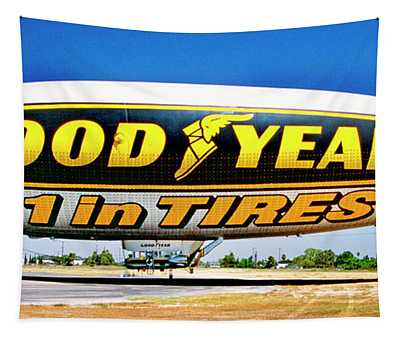 My Goodyear Blimp Ride Tapestry