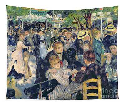 Ball At The Moulin De La Galette Tapestry