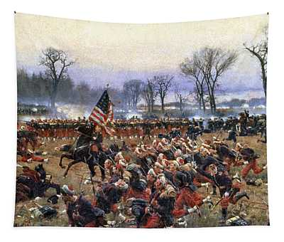 Tapestry featuring the painting Battle Of Fredericksburg - To License For Professional Use Visit Granger.com by Granger