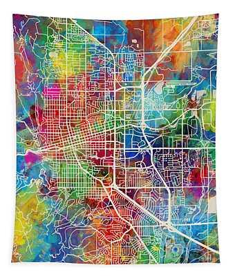 Boulder Colorado City Map Tapestry