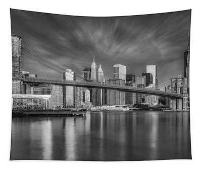 Tapestry featuring the photograph Brooklyn Bridge From Dumbo by Susan Candelario