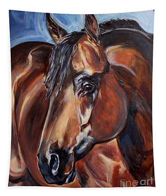 Brown Horse  Tapestry