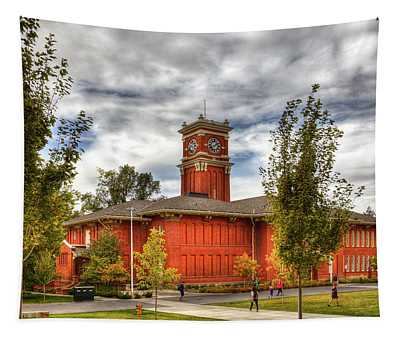 Bryan Hall On The Wsu Campus Tapestry
