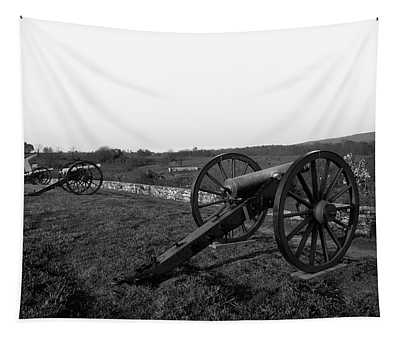 Cannon At Antietam Battleground  Tapestry