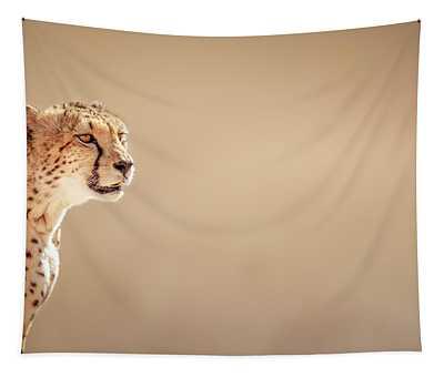 Cheetah Portrait Tapestry