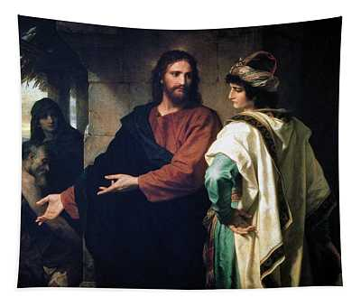 Christ And The Rich Young Ruler Tapestry