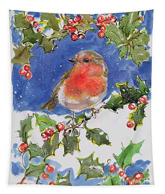 Christmas Robin Tapestry